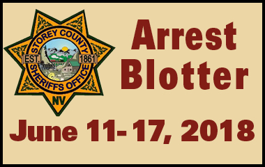 Storey County Arrest Blotter - June 11 - 17